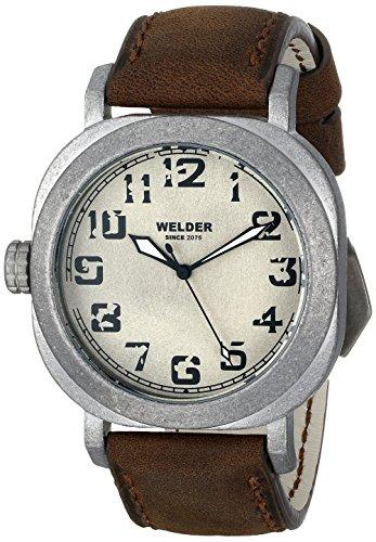 Welder - K19 500 - Montre Mixte - Quartz - Analogique - Bracelet Cuir Marron