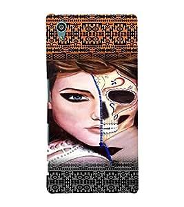 PrintVisa Stylish Cool Girl Modern Art 3D Hard Polycarbonate Designer Back Case Cover for Sony Xperia Z5