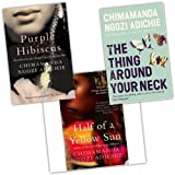 Chimamanda Ngozi Adichie Chimamanda Ngozi Adichie 3 Books Collection Pack Set RRP: £23.97 (Half of a Yellow Sun, Purple Hibiscus, The Thing Around Your Neck)