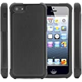i-Blason Apple iPhone 5C Armadillo Series 2 Layer Armored Hybrid Cover Case with Inner Soft Case and Hard Outter Shell AT&T, Verizon, Sprint, T-Mobile (Black)