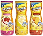 Gerber Graduates Puffs Cereal Snack Variety 3 Pack Strawberry Apple
