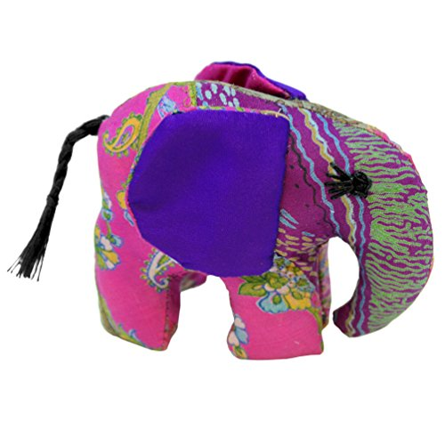 Purple Small Silk Elephant - 1