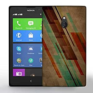 Snoogg Brown Background Design Printed Protective Phone Back Case Cover For Nokia Lumia XL