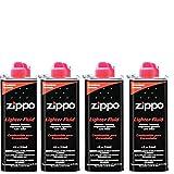 4X ZIPPO TIN LIGHTER ACCESSORIES FLUID, UNIVERSAL PREMIUM PETROL LIGHTER /FLUID/ FUEL 125ML