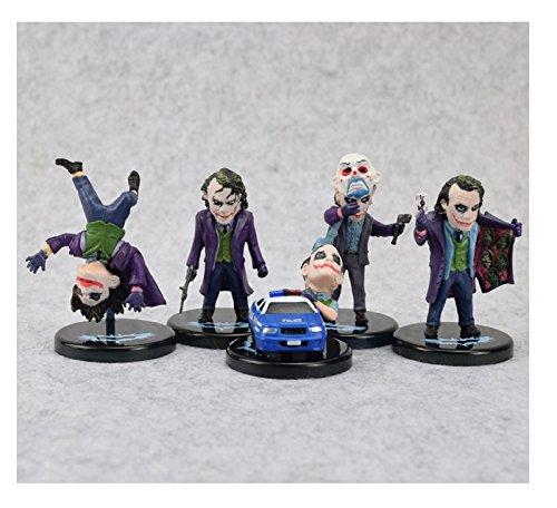 5pcs/set DC Comics Batman The Dark Knight The Joker Mini PVC Figures Collectible Model Toys