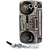 """ivencase Old Player Design Hard Skin Case Cover for Samsung Galaxy S3 I9300 + One phone sticker + One """"ivencase"""" Anti-dust Plug Stopper"""