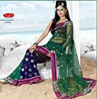 Designer Embroidered Saree with Blouse - 25008