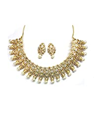 Pearls Forever Designer Necklace With Designer Earrings In CZ Crystal Diamonds By Sempre Of London