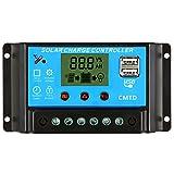 Anself 10A 12.6V LCDソーラー充電コントローラ オートレギュレータ ソーラーパネル バッテリーランプ 液晶表示 過負荷保護