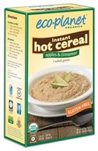 eco-planet Instant Hot Cereal, Apples and Cinnamon, 8.46-Ounce Boxes (Pack of 3)
