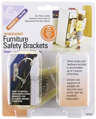 Mommy's Helper Tip Resistant Furniture Safety Brackets