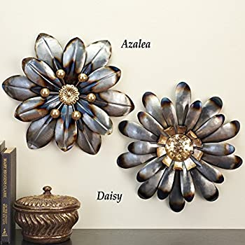 Metal Dimensional Wall Floral Art, Azalea