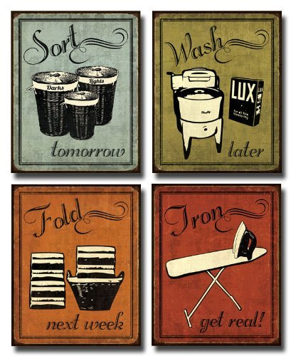 Wallsthatspeak Laundry Set Mini Mini Prints Vintage Signs Art Print Poster By N Harbick 8 X 10