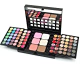 Easy lifestyles Professional 78 Colors Push-Pull Double-Deck Eyeshadow Palette Lip Palette Concealer Contouring Kit Makeup Palette Cosmetics Set