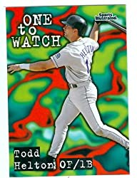 Todd Helton baseball card 1998 Fleer Sports Illustrated #156 (Colorado Rockies) rookie card