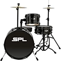 Sound Percussion Labs Lil Kicker 3 Piece Jr Drum Set with Throne (Multiple Colors)