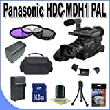 Panasonic HDC-MDH1 AVCHD Camcorder (PAL) + 16GB SDHC Memory + Extra Extended Life Battery + Ac/Dc Charger + USB Card Reader + 3 Piece Filter Kit + Deluxe Camera Bag + Accessory Saver Bundle!