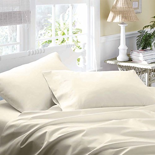 Laura Ashley Cotton Sateen Sheet Sets, King, Ivory front-1031754