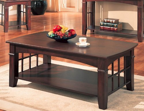 buy low price coaster antique country style coffee table cherry finish b0012l3rk6 coffee. Black Bedroom Furniture Sets. Home Design Ideas