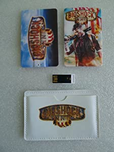 16GB Bioshock Infinite Business Credit Card Shape Size USB 2.0 Convenient Fast Flash Drive Storage Fit in Wallet with Leather Case Best Customized Collection GIFT for Game Movie Fans, Holiday, Birthday Much Thinner than Apple iPhone iPod Touch/iTouch As GOOD As Sony Memory Stick, Sandisk, Kingston, Datatraveler Ultra Thin and Lightweight 06-02 06-01