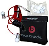 Monster ibeats Beats by Dr. Dre White/Red High Performance In-Ear Headphone Earphone for iPod, iPad, iPhone3G, iPhone 4, iPhone 4S, Android, Smartphone, Galaxy S and other 3.5mm MP3 Devices - BULK Packaging