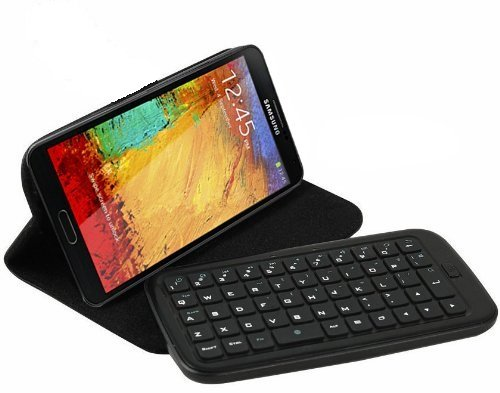 Top® Wireless Removable Bluetooth Keyboard Leather Case Cover For Samsung Galaxy Note Iii / 3. 6~10 Days Delivery