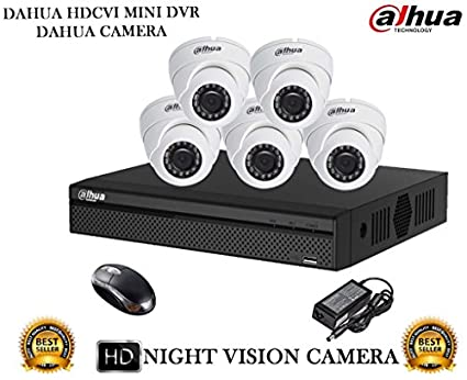 Dahua-DH-HCVR4108HS-S2-8CH-Dvr,-5(DH-HAC-HDW1000RP)-Dome-Cameras-(With-Mouse)