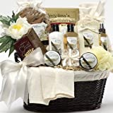 Essence of Vanilla Luxury Spa Bath and Body Gift Basket Set