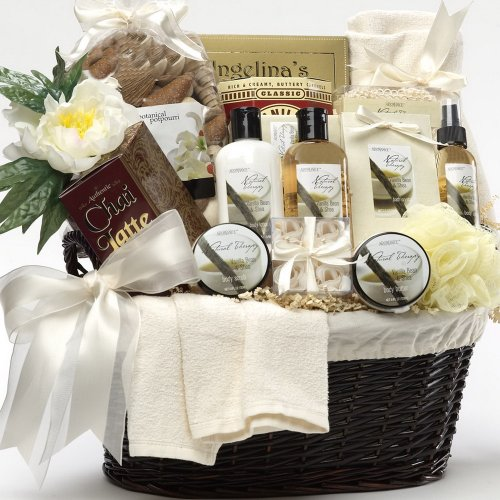 Essence of Luxury Spa Bath and Body Gift Basket - Honey Spa Gift Set:   Luxury Spa Bath and Body: Christmas Gifts