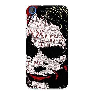 Delighted Premier Psyco Typo Multicolor Back Case Cover for HTC Desire 820
