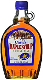 Cary\'s Pure Maple Syrup Grade A Dark Amber Syrup, 12.5 Ounce