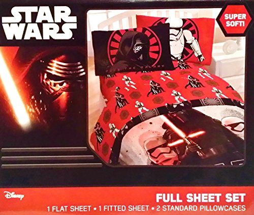 "Star Wars Episode VII The Force Awakens ""First Order, Rule the Galaxy"" 4 Piece Full Sheet Set"