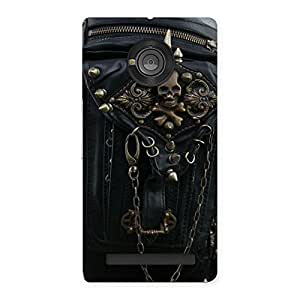 Impressive Zip Chain Back Case Cover for Yu Yuphoria