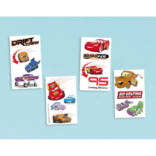 Cars Grand Prix Temporary Tattoos