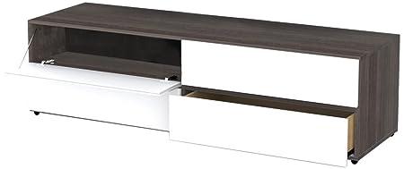 Nexera 221133 Allure TV Stand, 60-Inch, Ebony and White