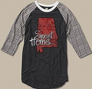 Sweet Home Alabama - Ladies Baseball Sleeve Tee by Bella Soul
