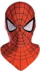 Disguise Men's Marvel Spider-Man Deluxe Mask, Red/Black, One Size