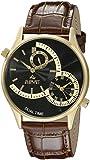 August Steiner Men's AS8010YGBR Analog Display Japanese Quartz Brown Watch