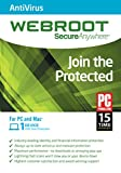 Webroot Antivirus 2016 - 1 Year 1 Device PC
