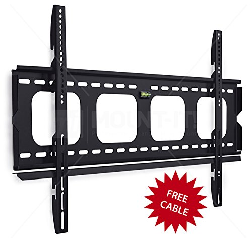 Mount-It! MI-305L Premium Low-Profile Fixed TV Wall Mount Bracket for 42 - 70 inch LCD, LED, 4K  Flat Screen TVs Capacity 220 lbs,  Max VESA 850x450 (Tv Wall Bracket 80 compare prices)