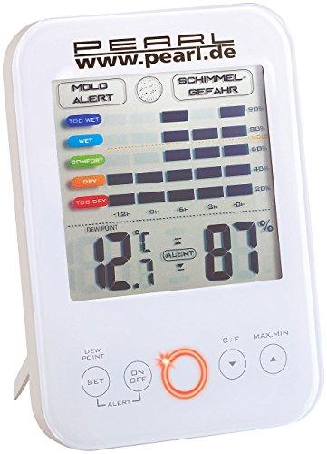 pearl schimmelw chter digital hygrometer thermometer mit schimmel alarm. Black Bedroom Furniture Sets. Home Design Ideas