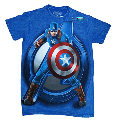 Marvel Avengers Age of Ultron Captain America Licensed Graphic T-Shirt