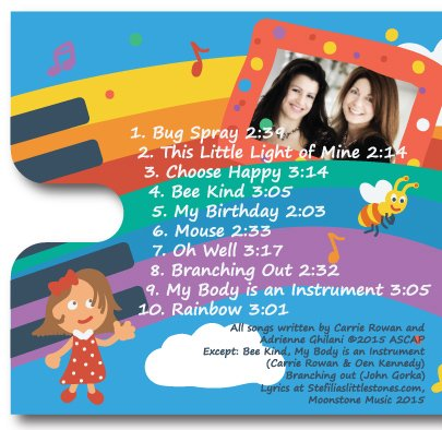 Children's Music CD Let it Shine -Perfect Kid's Gift, Fun, Music for Kids and Baby- Smart Pop Songs by Stefilia's Little Stones - Kids and Parents Will LOVE - Guaranteed from Moonstone Music