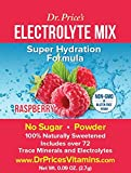 Electrolyte Mix: Super Hydration Formula, Raspberry Flavor (30 powder packets) Drink Mix | Dr. Price's Vitamins