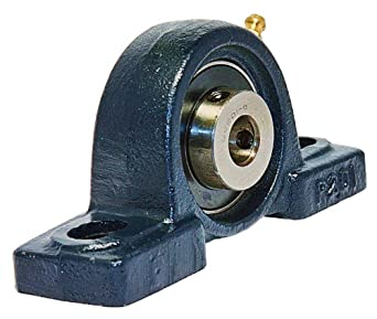 "UCP201-8 Pillow Block Mounted Bearing, 2 Bolt, 1"" Inside Diameter, Set screw Lock, Cast Iron, Inch"