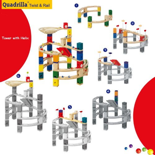 quadrilla marble run plans