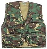 Los niños del ejército camuflaje Multi bolsillo del chaleco - Se adapta a las edades 3-14 ( 9-10 años )