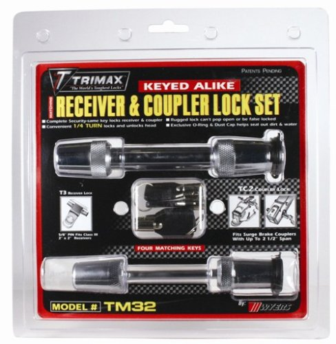 "Trimax Tm32 (T3) 5/8"" Receiver Lock & (Tc2) 2.5"" Span Coupler Lock front-157908"
