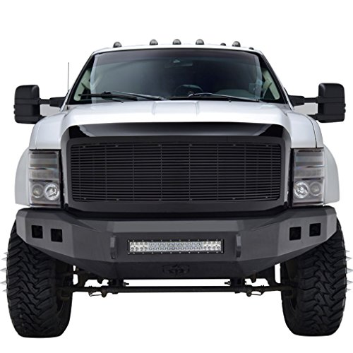 E-Autogrilles 08-10 Ford Super Duty F-250/F-350 Aluminum Black 8mm Horizontal Replacement Billet Packaged Grille with ABS Shell (42-0309B) (08 Ford F250 Super Duty Grill compare prices)