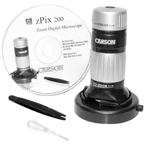 Carson Zpix 200 Digital Zoom 36-176X Microscope (Mm-740)